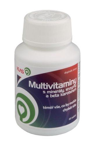 Multivitaminy s minerály a enzymy + beta karoten